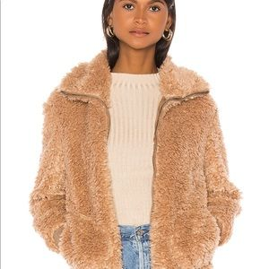 Teddy Or Not Bomber Jacket in Camel
